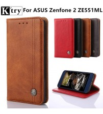 Cover Case For Asus Zenfone 2 ZE551ML Flip PU Leather Wallet Case