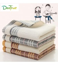 Cotton Thick Luxury Solid Plaid Cotton Towel