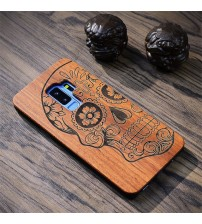 Retro Flower Carving Wood Case