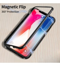iPhone X Magnetic Adsorption Flip Case