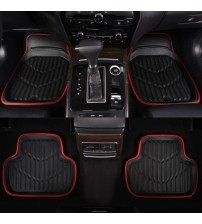 Car Floor Mat Red Pu Leather