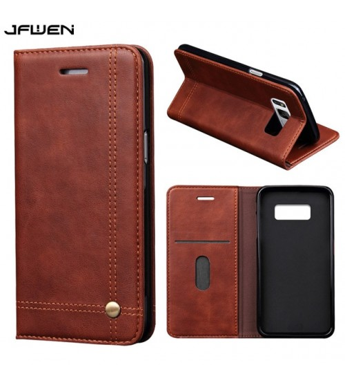 EG-Galaxy S8Leather Flip Wallet Magnetic Luxury Phone Case
