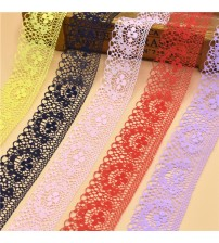 10 Yards Embroidered Net Lace Trim Fabric