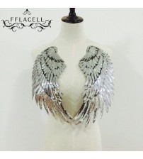 1 Pair 18*33cm Wings Patches Sew On Iron