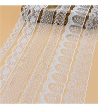 10 Yards White Lace Ribbon Wide