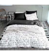 Duvet White and Black Bedding Sets