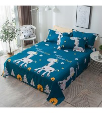 100% Cotton 3pcs Bed Sheets Pillowcase