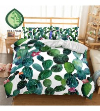 3D Bedding Set Cactus Print Duvet Cover