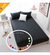 100% Cotton 1 piece Solid  Bed Sheet Bed Cover