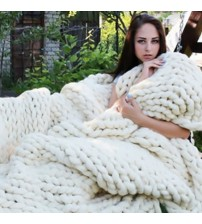 Chunky Knitted Blankets throws Blanket