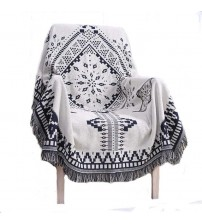 Bohemian Cotton Knitted Decorative Sofa Blanket