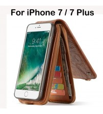 iPhone 7/7 Plus Leather Wallet Zipper Case