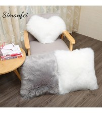 New Super Faux Sheepskin Fur Cushion