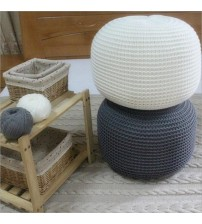 New Style Knitted  Woolen Round Cushion