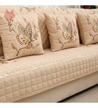 Pastoral Butterfly Embroidered Sofa Cover