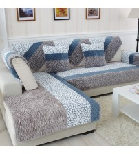 1 Piece Plush Fabric Sofa Cover European Style