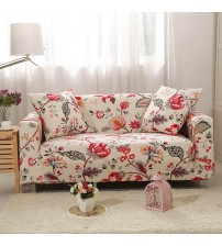 Light Color Printing Sofa Tight Wrap Elegant Sofa Cover