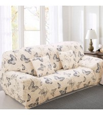 Elastic Sofa Cover Printed Flowers Slipcover