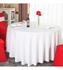 1PC 18 colors Polyester Fabric Solid Round White Table Cloth