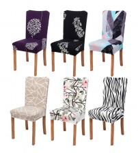 1pc Spandex Elastic Flower Printing Chair Slipcover