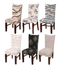 Minimalist Geometry Floral Spandex Chair Cover