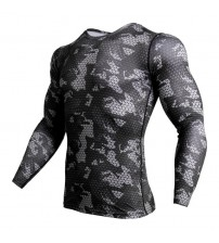 Compression Shirt Men Camouflage Long Sleeve