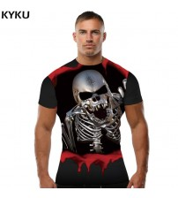 Brand Skull T shirt Blood Clothes