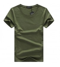 Classical Short Sleeve O-neck Solid Color