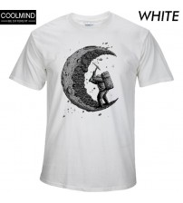 100% Cotton Digging Moon Print Casual