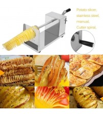 Manual Stainless Steel Twisted Spiral Potato Slicer