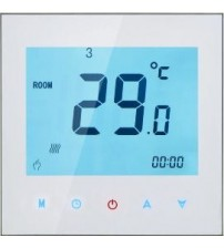 16A Touchscreen Black Colour Programmable Thermostat