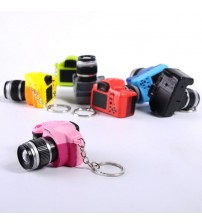 LED Luminous Keychain Plastic Toy Camera