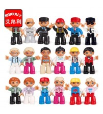 Building Blocks Worker Police Figure Toys