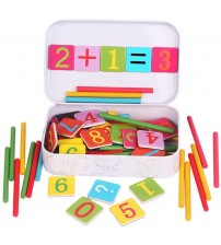 Baby Math Toy!!!Wooden Stick Magnetic