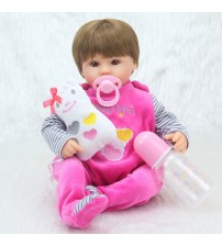 "16"" 40cm Silicone Baby Doll kids Playmate"