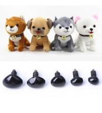 100Pcs Plastic Safety Triangle Nose Doll Plush Toys
