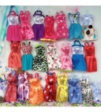 10pcs Mix Sorts Doll Mini Party Dress