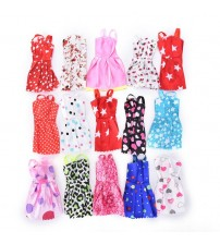 10 Pcs Barbie Doll Gown Dresses Clothes