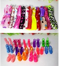 20 PCS Barbie Doll Clothes