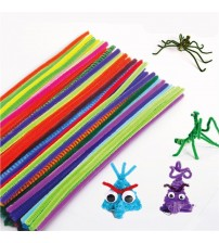 100pcs Colorful Chenille DIY Handmade Sticks