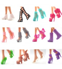 12 Pairs Doll Shoes for Barbie Doll