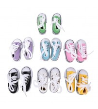 1 Pair Denim Canvas Shoes For Doll Toy