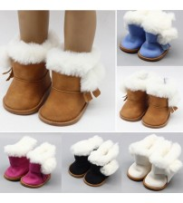 1 Pair Plush Doll Winter Snow Boots