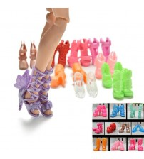 20Pcs/Lot Color Random Fashion Doll Shoes