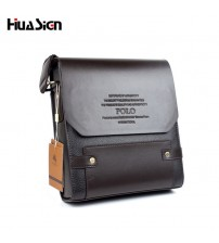 Composite Leather Solid Men Messenger Bag