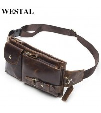 Genuine Leather Waist Packs Bag
