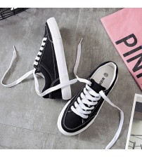 Fashion Lace-Up Black/White Women Shoes