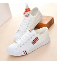 Women Canvas Shoes Lace-Up