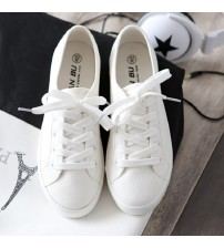 Classic Women Flats Solid White Sneakers