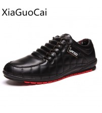 Men Casual Shoes With Cotton Lace Up Checkered